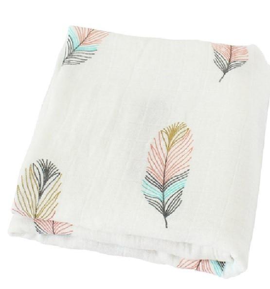 120x120cm 70% Bamboo+30% Cotton Baby Blankets Newborn Stroller Bedding Quilts Toddler Kids Muslin Swaddle Blanket Baby