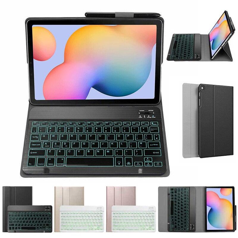 سليم لوحة المفاتيح الحال بالنسبة لسامسونج غالاكسي تبويب S6 لايت P610 P615 10.4 ''اللوحي بلوتوث لوحة المفاتيح ل SM-P610 SM-P615 جلدية الغلاف