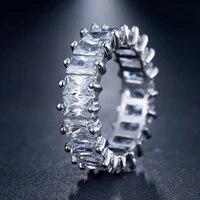 hot sale milangirl ladies silver color unique design cz ring paved austrian zircon fashion women female ring jewelry accessories