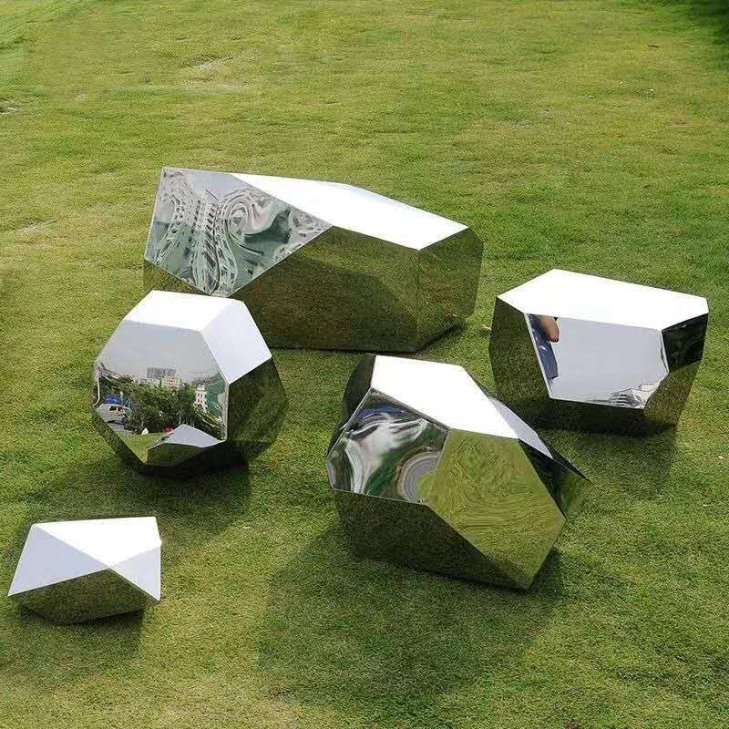 Custom Stainless steel mirror landscape sculpture decoration,Garden/Square  Sculpture decoration custom