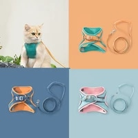 classic pet dog vest harnesses leashes rope cool dog chest straps traction rope for cat puppy dogs leashes pet supplies