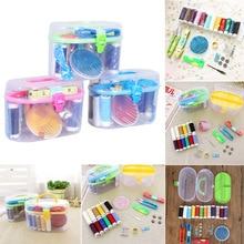 Mini Reise PP Nähen Box Mit Farbe Nadel Themen Nähen Kits Nähen Set DIY Hause Tools Drop Verschiffen WYQ