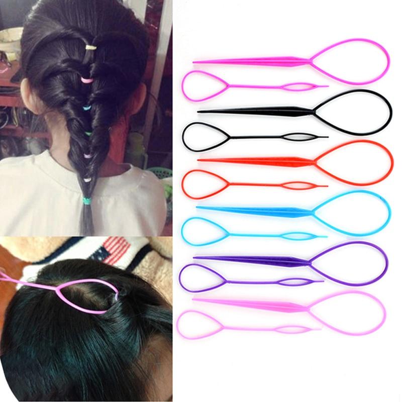 a001 fashionable hair style roller maker black Multi-style Women Hair Twist Styling Clip Stick Bun Maker DIY Hair Braiding Tools Hair Accessories Braider DIY Hairstyle