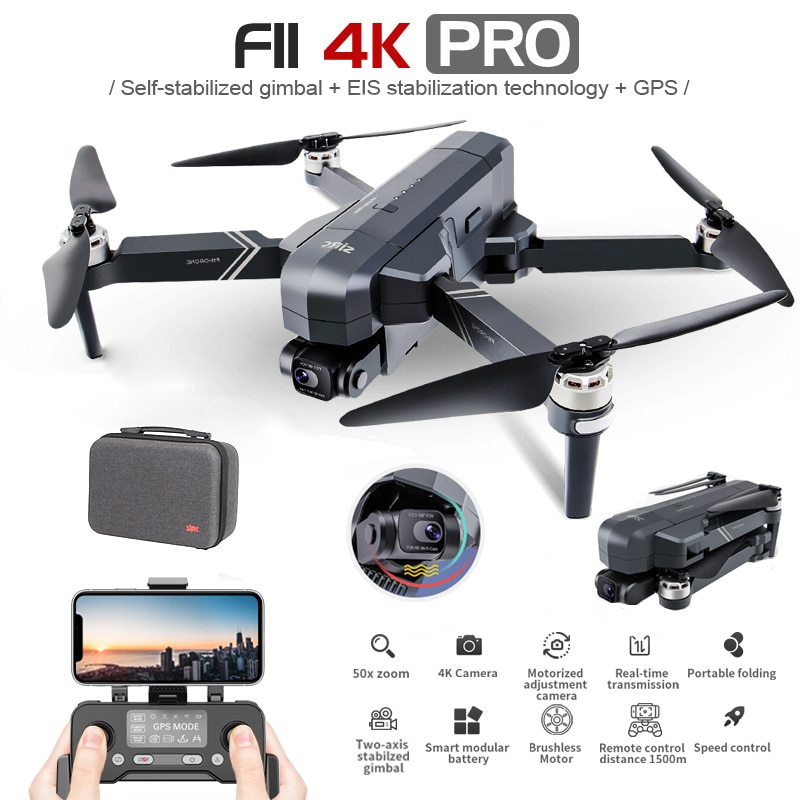 Sjrc f11 4k pro 5g wifi 1.2km fpv gps com 4k câmera hd 2 eixos cardan dobrável sem escova rc zangão quadcopter rtf vs sg906 max