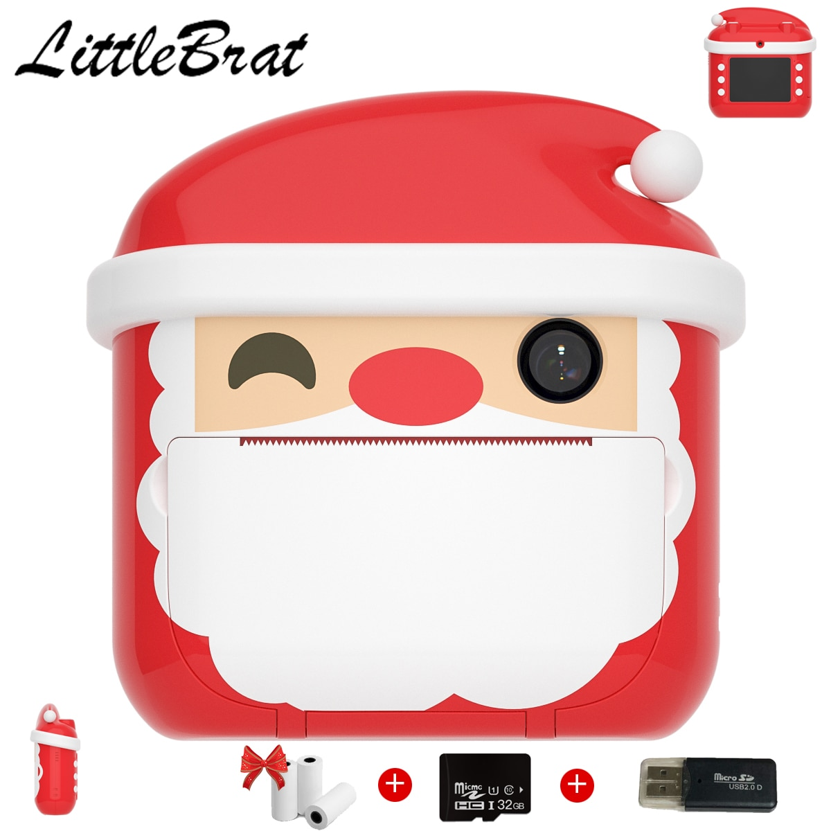 Children's Camera With Print Instant Print Photos Camera Kids Toys Boy Girl Cute Christmas Gift 1080P Video Digital Camera enlarge