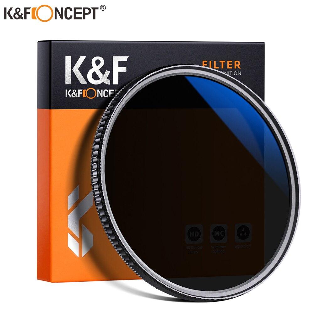 Filtro K & F concepto 2 en 1, filtro ND32 CPL, filtro de polarización Circular, filtro ND HD de 49mm, 52mm, 55mm, 58mm, 62mm, 67mm, 72mm, 77mm, 82mm