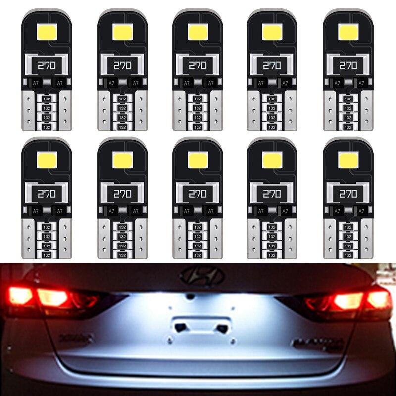 10x LED T10 W5W Canbus CarBulb подсветильник номерного знака для Ford Focus 2 3 Fiesta MK2MK3 Mondeo MK4 Fusion Ranger Внутренняя купольная подсветка