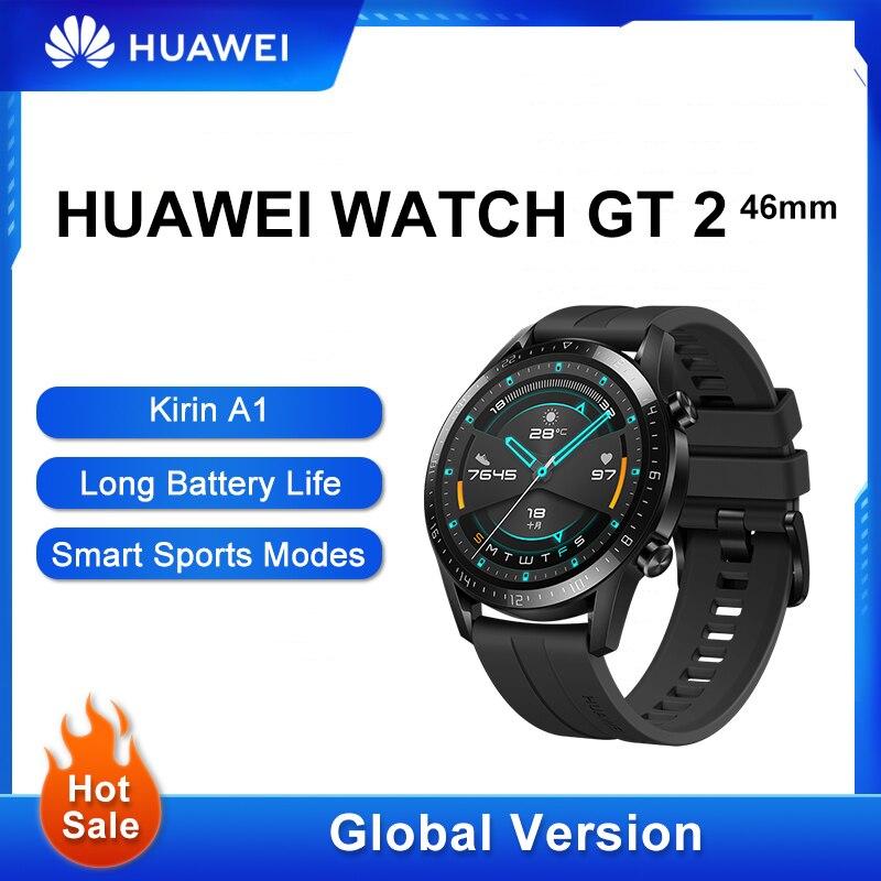 Get Global Version HUAWEI Watch GT 2 Smart Watch Waterproof GPS Fitness Tracker Huawei GT2 SmartWatch Heart Rate Sleep Tracker