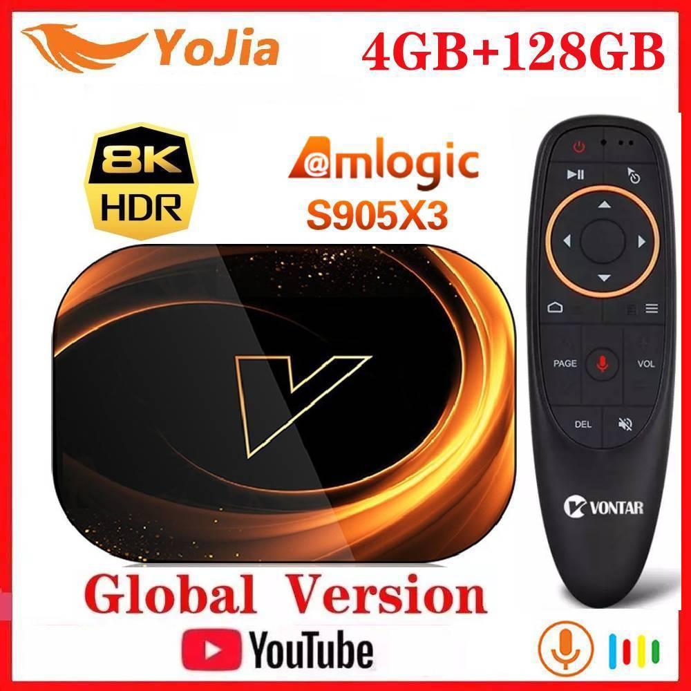Vontar X3 الذكية 8K التلفزيون مربع الروبوت 9.0 Amlogic S905X3 ماكس 4GB RAM 128GB ROM مجموعة أعلى مربع 1000M المزدوج Wifi يوتيوب ميديا بلاير