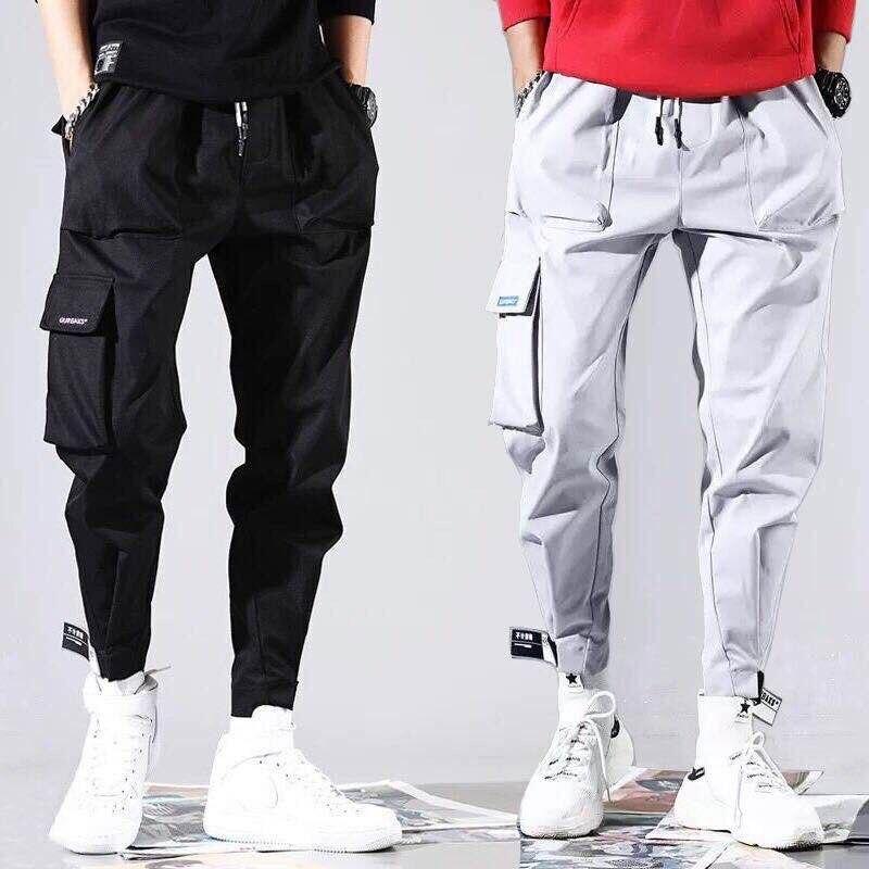 2020 модные мужские брюки-карго в стиле хип-хоп, мужские уличные брюки Kpop, повседневные мужские джоггеры, деловые брюки с