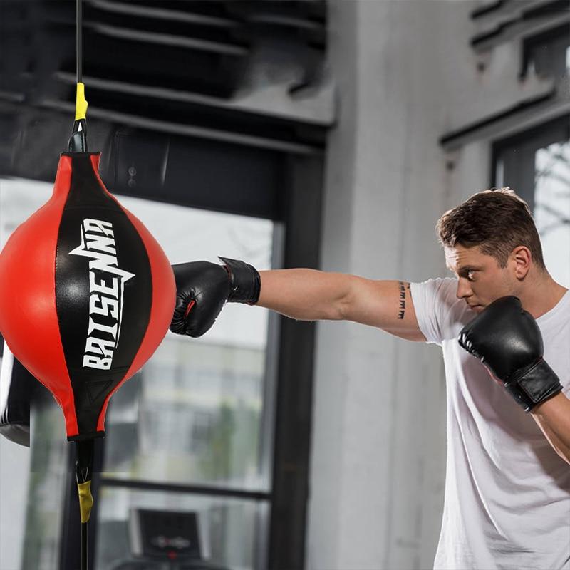 Bola de perfuração pu pêra saco boxe treinamento reação velocidade bolas muay thai soco boxe equipamentos esportivos fitness treinamento