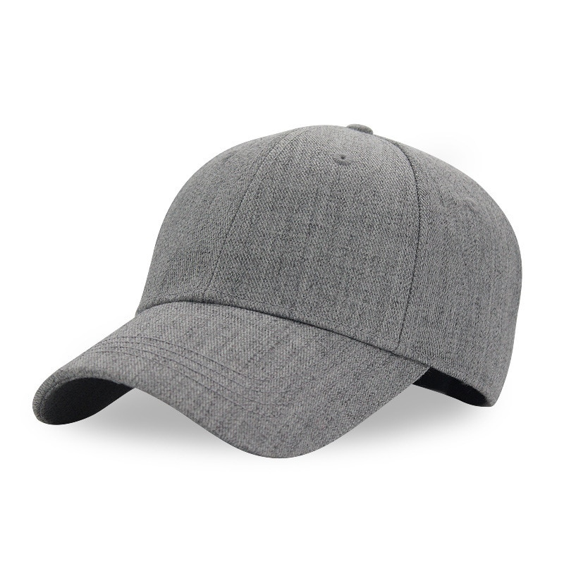 Gorros de beisebol de lã masculina de alta qualidade dos pais boné de beisebol de tamanho grande feminino inverno ao ar livre casual sólido esporte chapéus 56-60cm
