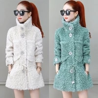 2020 winterwomen new new faux fur coats sheep sheared granular outwear female loose casual warm fake fur overcoats r49