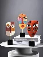 creative abstract figure art resin decorative ornaments modern minimalist living room decoration statuette for home decor