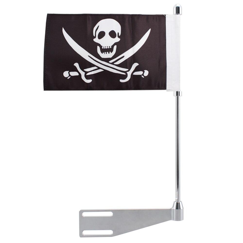 Bastidor de bandera del mástil del portaequipajes del pirata de la motocicleta poste Vertical para el Cacique indio Dark Horse Roadmaster sprinkfield Limited