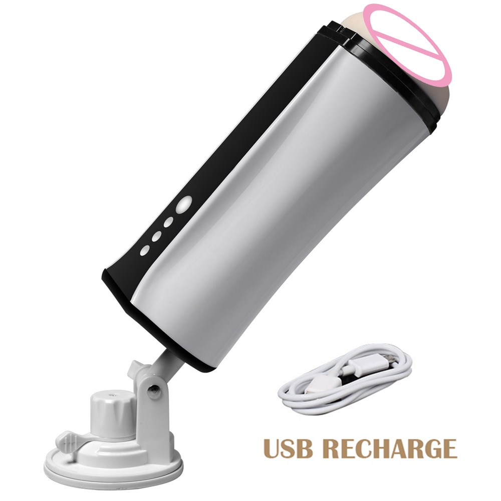 USB Rechargeable Intelligent Automatic Masturbation Cup Vibrating Sucking Male Masturbator Real Vagina Adult Sex Toy for Men