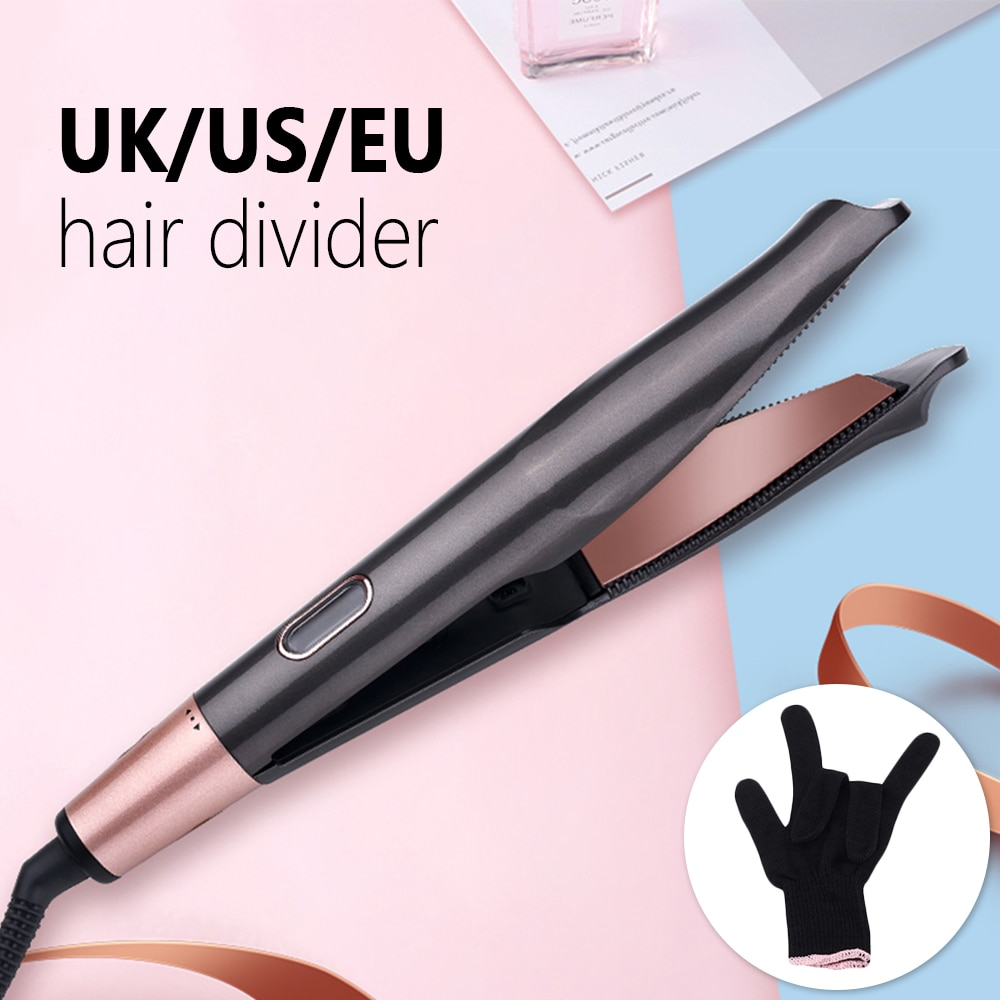 Profissional vapor alisador de cabelo cerâmica vapor 2 em 1 modelador de cabelo e alisador em um salão de beleza plana ferros styler turmalina