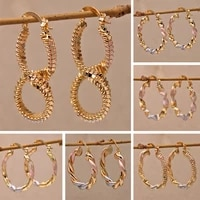 2021 new trendy round gold plated hoop earrings for women girls fashion jewelry accessories paint pink gray earring party gift