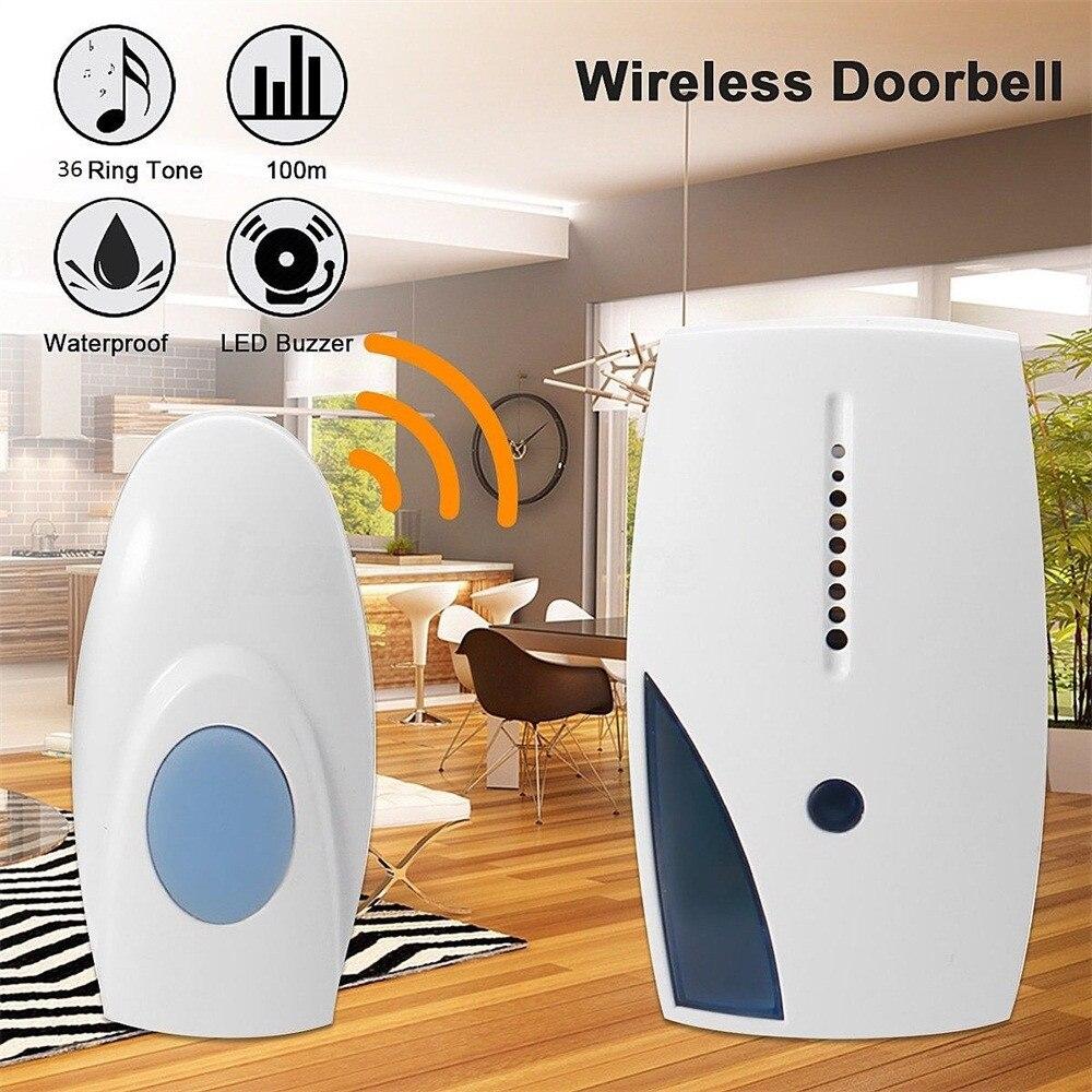 Wireless Door Bell 36 CHIME Home Cordless Portable 100M Range Digital Battery  Doorbell