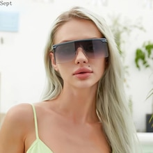 2021 Luxury Brand Windproof Sun Glasses Oversized Sunglasses Women Big Frame  For Men With A Box Shi