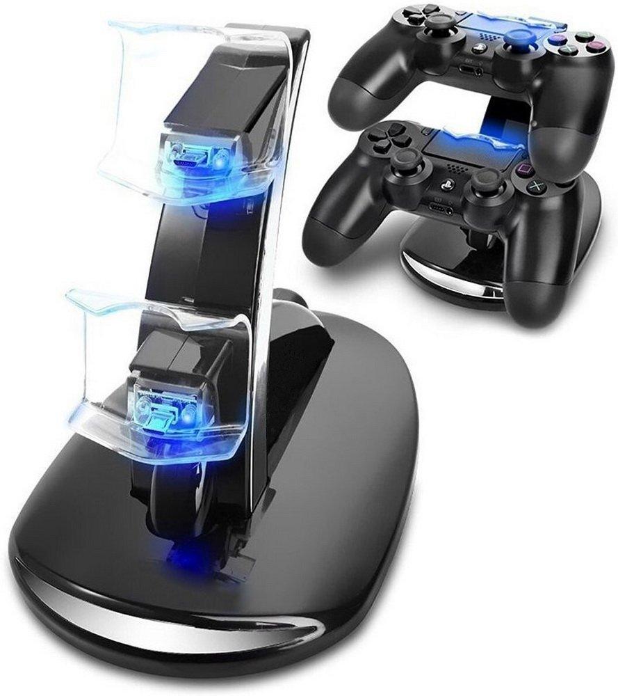 PS4 accesorios Dual Cargador Micro USB muelle Joystick PS4 estación de carga forPlayStation 4 Dualshock4 controlador de cargador