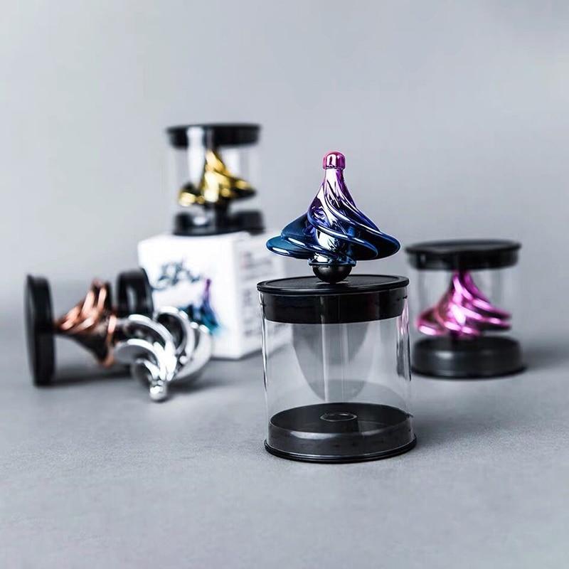 Portable Wind Gyro Based Spinning Tops Fidget Decompression Spinner Desktop Stress Relief Toys For Kids Adults Children Gifts enlarge