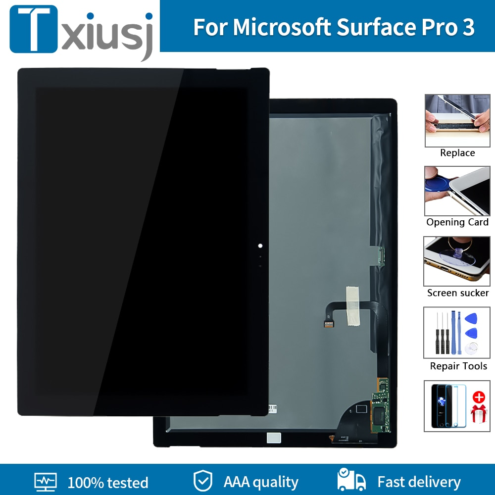 شاشة لمس LCD أصلية مقاس 12.1 بوصة لجهاز Microsoft Surface Pro 3 1631 ، محول رقمي لـ TOM12H20 v1.1 v1.0 LTL120QL01 003 لـ Pro3 LCD