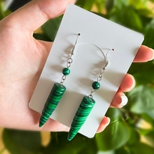 New Ethnic Dangle Earrings Jewelry for Women Natural Stone Personalized Earrings 2021 Trendy Accesso