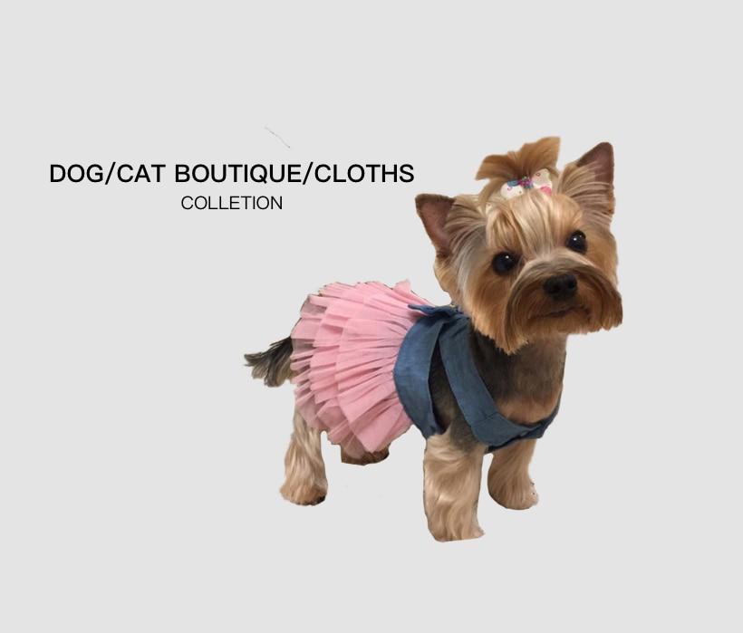 Vestido de verano para perros y mascotas ropa para perro Chihuahua vestido de boda y falda de ropa de cachorro de primavera...