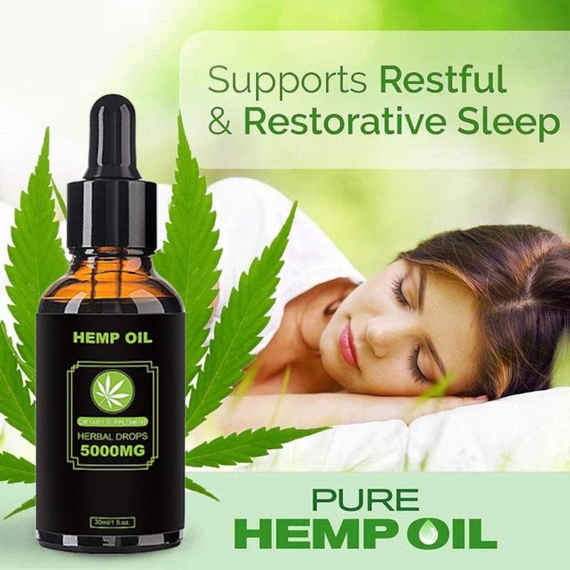 30ml 100% bio cbd óleo de cânhamo 5000mg bioactive semente extrato gotas de óleo aliviar a dor óleo lubrificante reduzir ansiedade massagem corporal