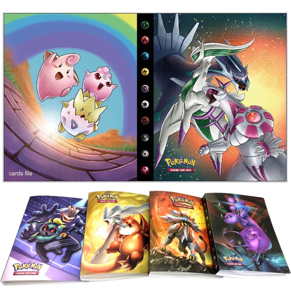 240 Uds. Titular de la colección de juguetes de álbum, tarjetas de Pokemon, libro de álbum, lista de juguetes más cargada, regalo para niños