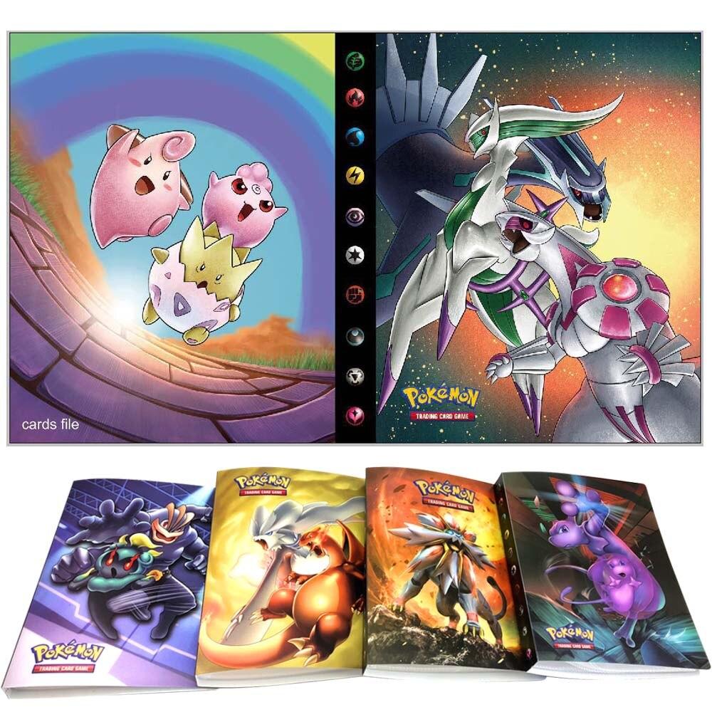 240 pçs titular álbum brinquedos coleções pokemones cartões álbum livro topo carregado lista brinquedos presente para crianças