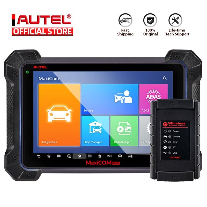 Autel MaxiCOM MK908 Auto Diagnostic Scanner Autel MK908 PK MK908P MaxiSys Elite MS908 ECU Programming with J2534 OBD 2 OBD2 Auto