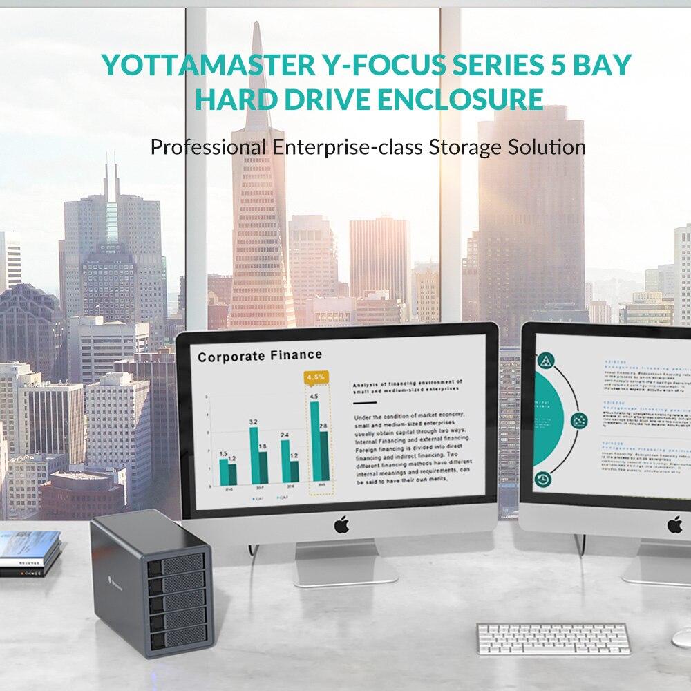 Yottamaster FS5RU3 External Hard Drive Enclosure 5 Bay 2.5