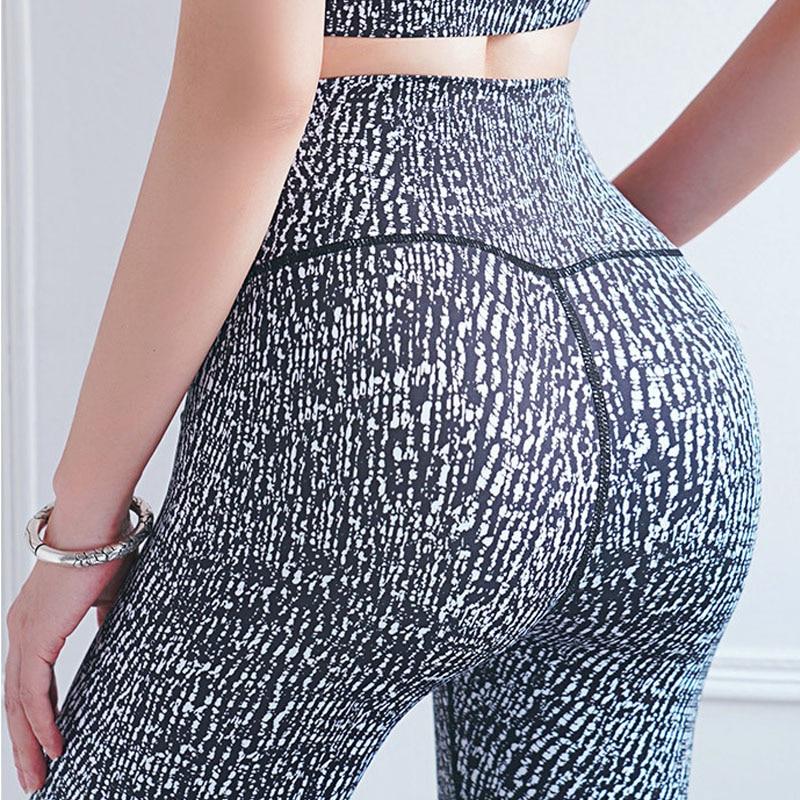NORMOV High Wasit Printed Leggings Women Fitness Slim Push Up Workout Legging Seamless Elastic Leggins Jeggings Female Casual