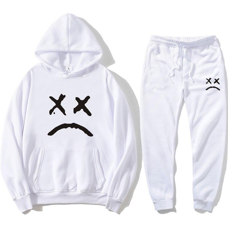 Комплект толстовок Lil Peep Hell Boy, Прямая поставка Толстовка с капюшоном Peep, пуловер и брюки для мужчин и женщин, толстовка с капюшоном Cry, Свитшо...