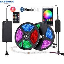 Bluetooth LED Streifen Licht RGB SMD 5050 Flexible Band Wasserdichte RGB LED Licht 15M Band 12V Bluetooth Steuer led streifen alexa