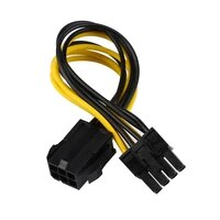 Adapter Cable 6-pin To 8-pin Pci Express Power Converter Cable For Gpu Video Card Pcie Pci-e A Quality Adapter Cables Connector