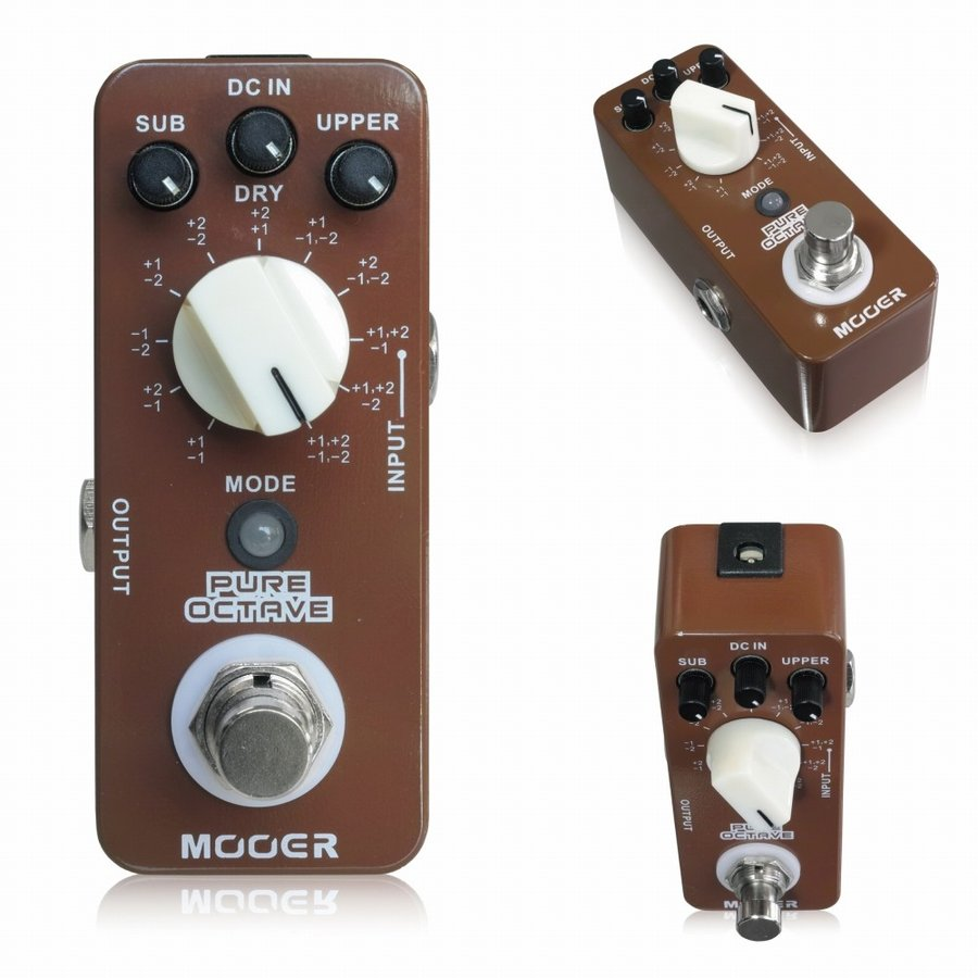 Mooer Guitar Effect Pedal Pure Octave Guitar Pedal Precise Polyphonic Octave 11 Octave Modes Mini Octave Modes True Bypass Full enlarge