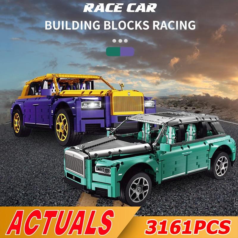 NEW High-Tech Luxury Car Toys The RC Rollsed Motor Car Cullinans Car Model Building Blocks Brick Kid
