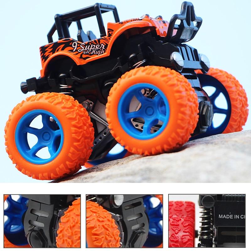 Coche todoterreno de inercia a prueba de golpes con cuatro ruedas, coche modelo de vehículo de simulación para niño, coche de juguete antichoque DS29