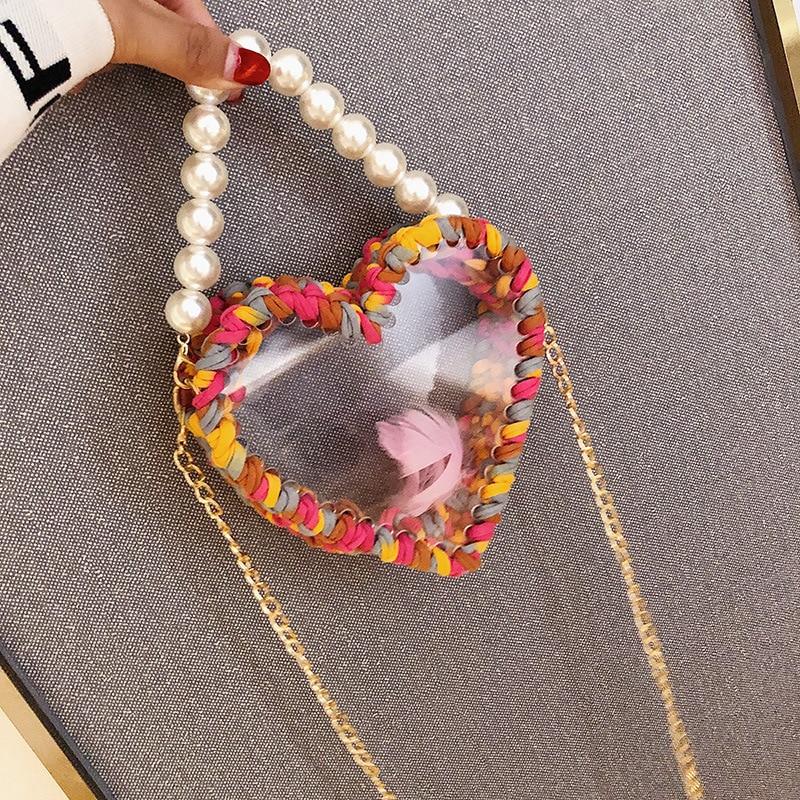 Bolso de Mujer Transparente 2019 nuevo tejido perla 100 bolso de hombro de moda