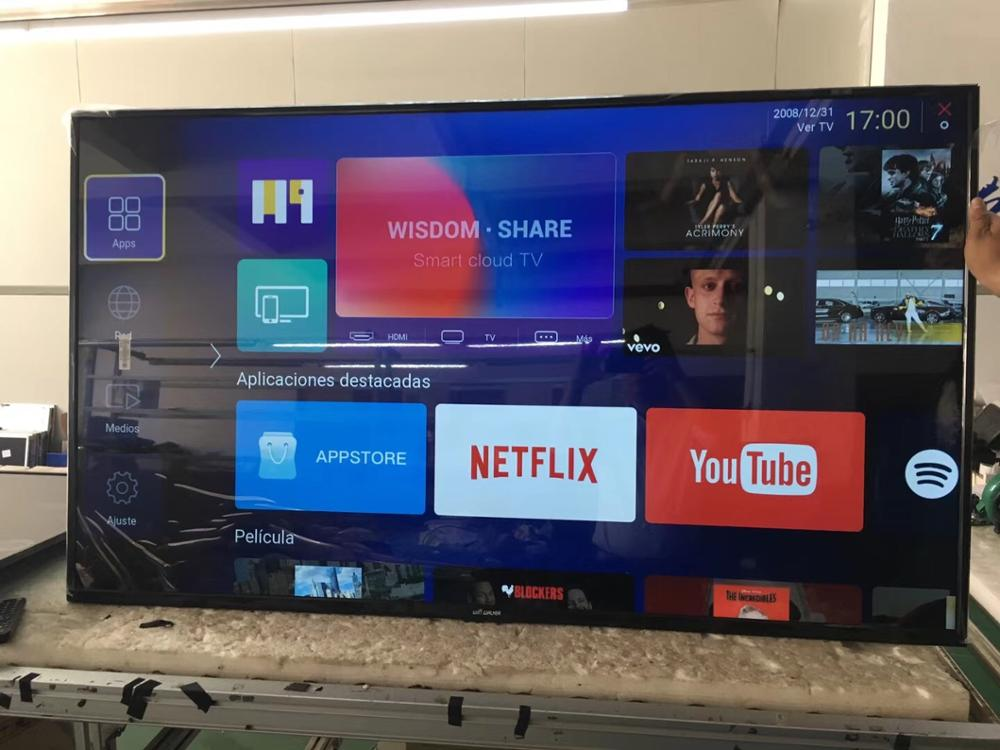 تليفزيون إل سي دي ذكي بشاشة led lcd عالية الوضوح بالكامل 60 بوصة مقاس 43 50 55 60 بوصة يعمل بالواي فاي بالجملة