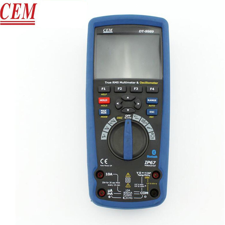 CEM DT-9989 صحيح RMS الصناعية المتعدد مع TFT لون شاشة الكريستال السائل الذبذبات المتعدد شاشة ديجيتال ، جديد.
