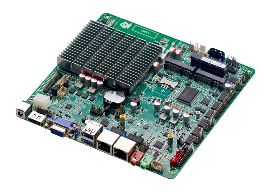 Материнская плата Celeron J1900 2,0 ГГц с LVDS,6 COM,2 LAN, поддержка 8G ddr3L, материнская мини-компьютера, mini itx