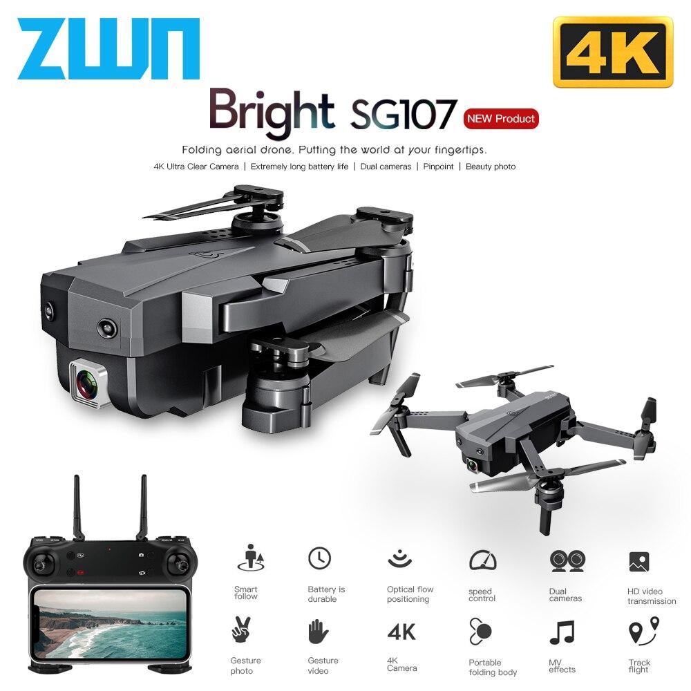 ZWN SG107 RC Drone Mini 4K Dual Camera Wifi FPV Quadcopter Video Real-time transmission Helicopter Toys VS E58 E88 V4 dron