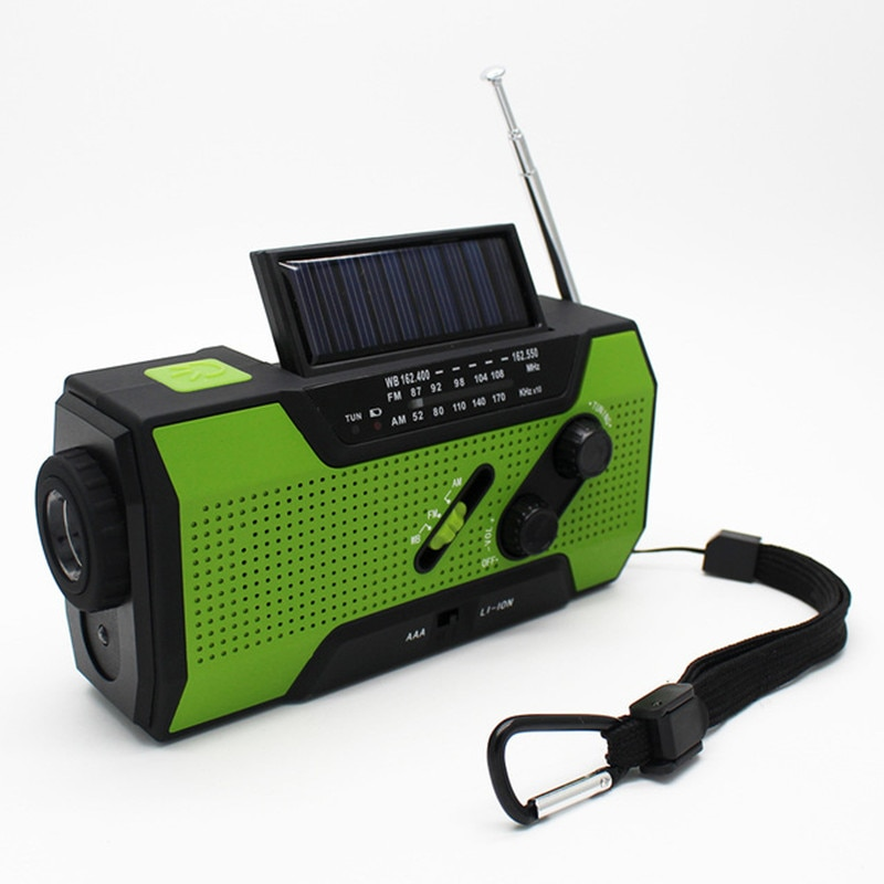 Solar Panels Hand Cranked FM AM NOAA Radio Portable Flashlight Table Lamp Mobile Phone USB Charger Power Bank Outdoor LED Light enlarge