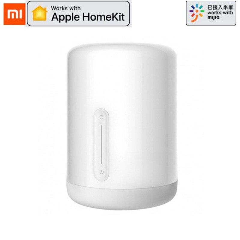 Xiaomi-Lámpara de mesita de noche Mijia, 2 luces LED de interior con WiFi y Bluetooth, funciona con Apple HomeKit, novedad de 2019