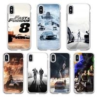 fast and the furious movie phone case transparent soft for iphone 5 5s 5c se 6 6s 7 8 11 12 plus mini x xs xr pro max