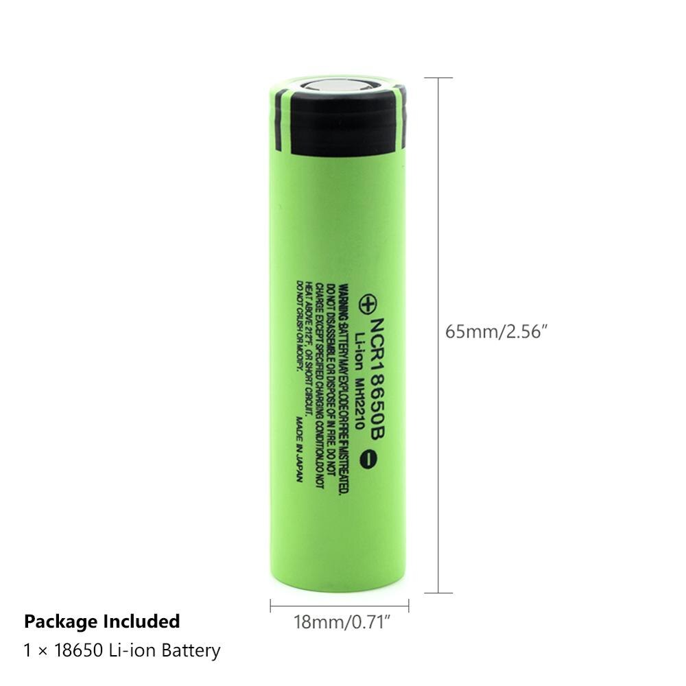 2020 100% Panasonic Original 18650 Battery NCR18650B 3.7V 3400 mah Lithium Rechargeable Flashlight batteries